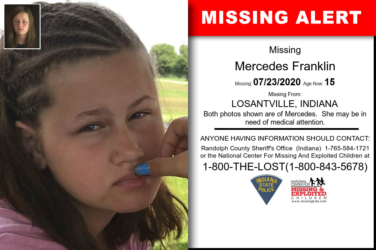 Mercedes_Franklin missing in Indiana