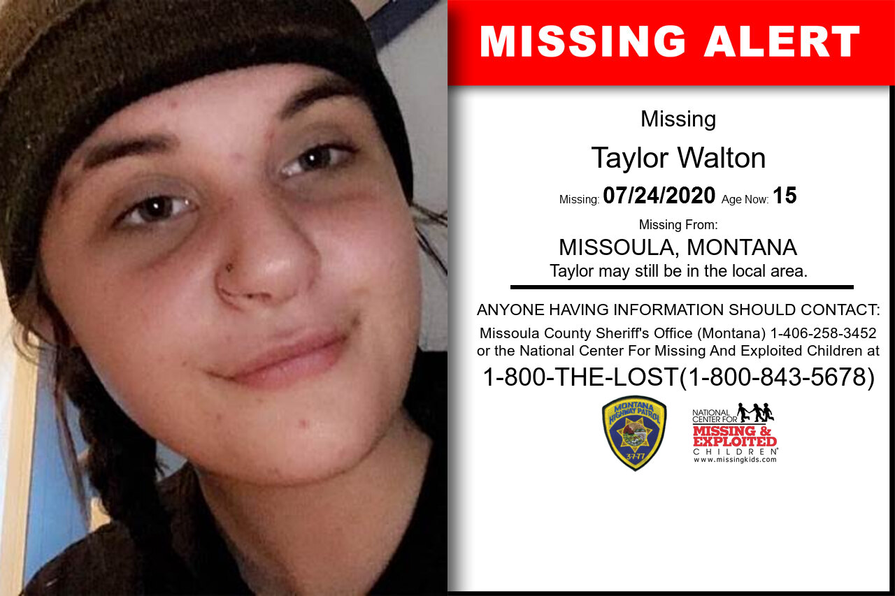 Taylor_Walton missing in Montana