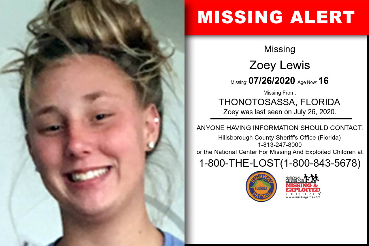Zoey_Lewis missing in Florida