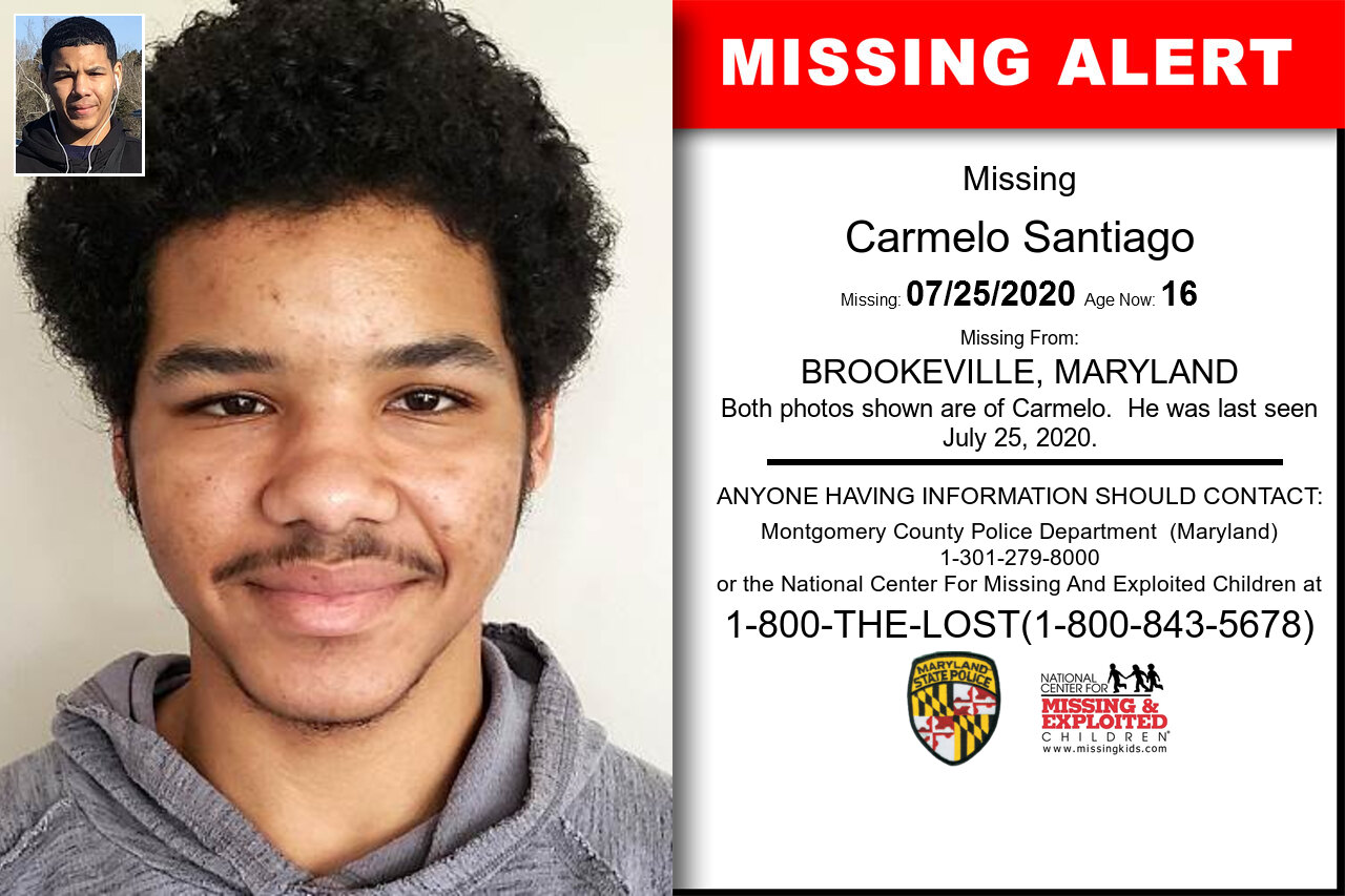 Carmelo_Santiago missing in Maryland
