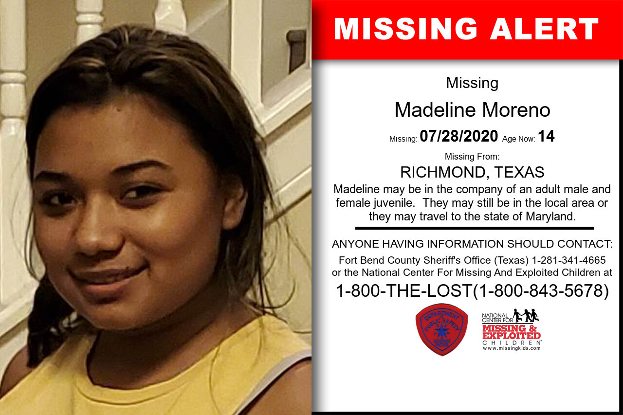 Madeline_Moreno missing in Texas