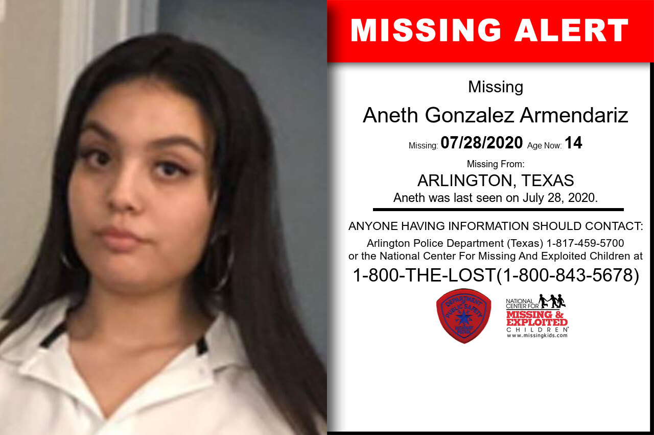 Aneth_Gonzalez_Armendariz missing in Texas