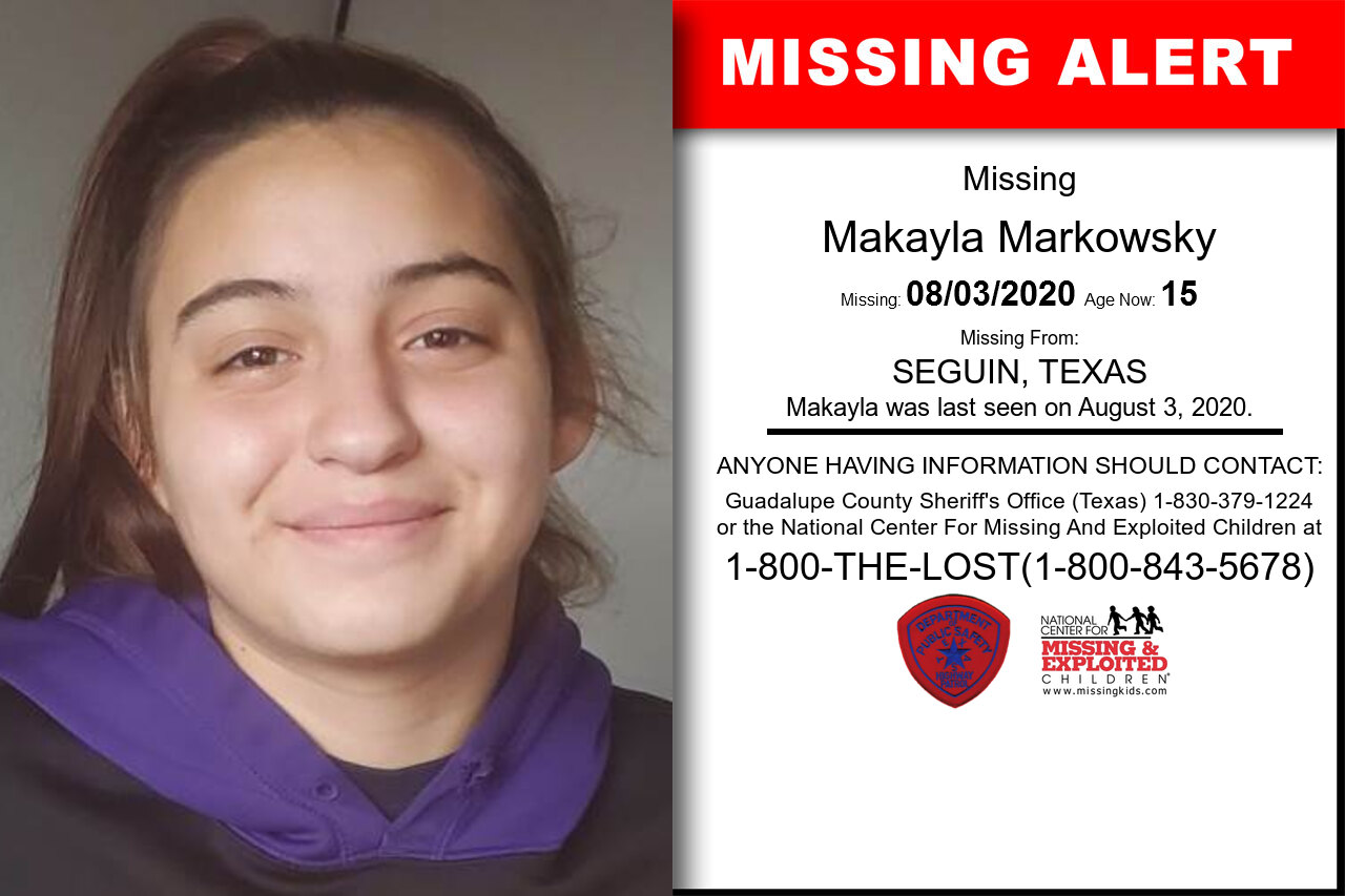 Makayla_Markowsky missing in Texas