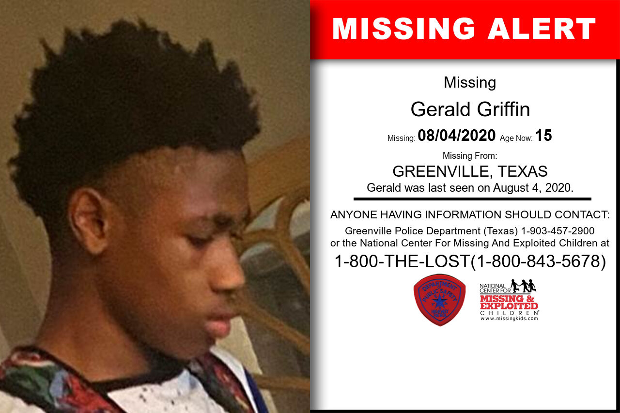 Gerald_Griffin missing in Texas