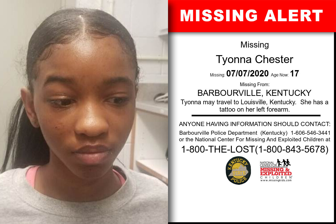 Tyonna_Chester missing in Kentucky