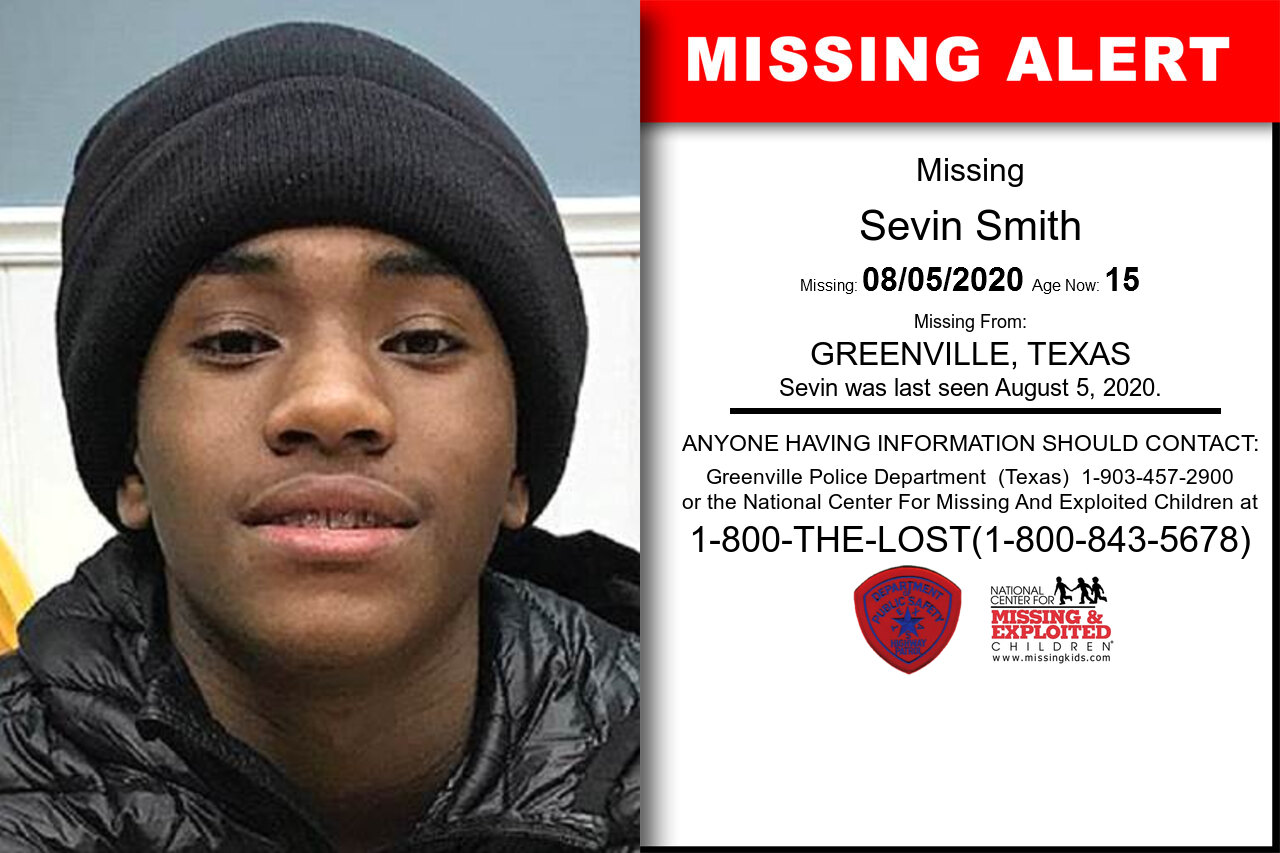 SEVIN_SMITH missing in Texas