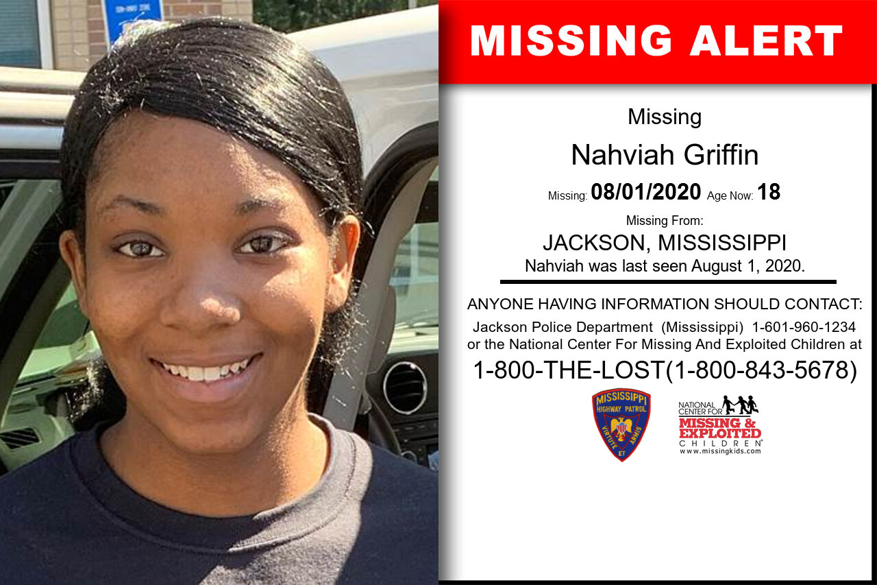 Nahviah_Griffin missing in Mississippi