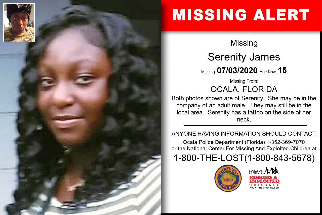 Serenity_James missing in Florida