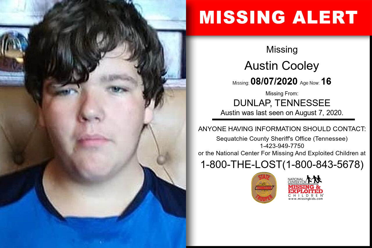 Austin_Cooley missing in Tennessee