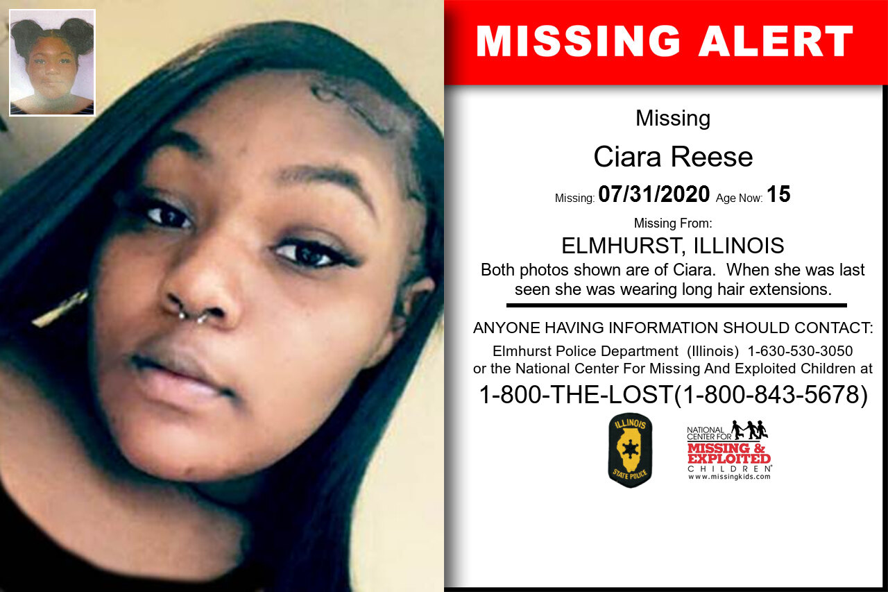 Ciara_Reese missing in Illinois