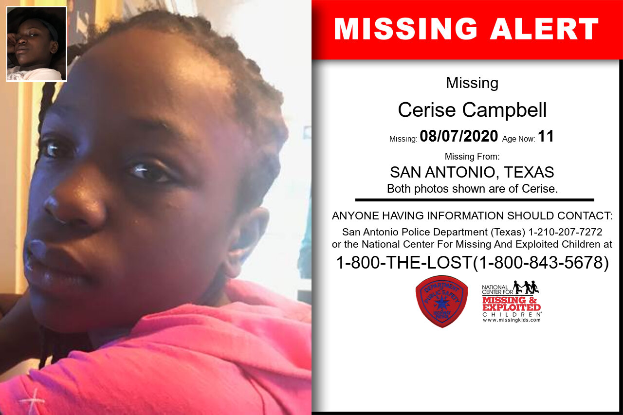 Cerise_Campbell missing in Texas