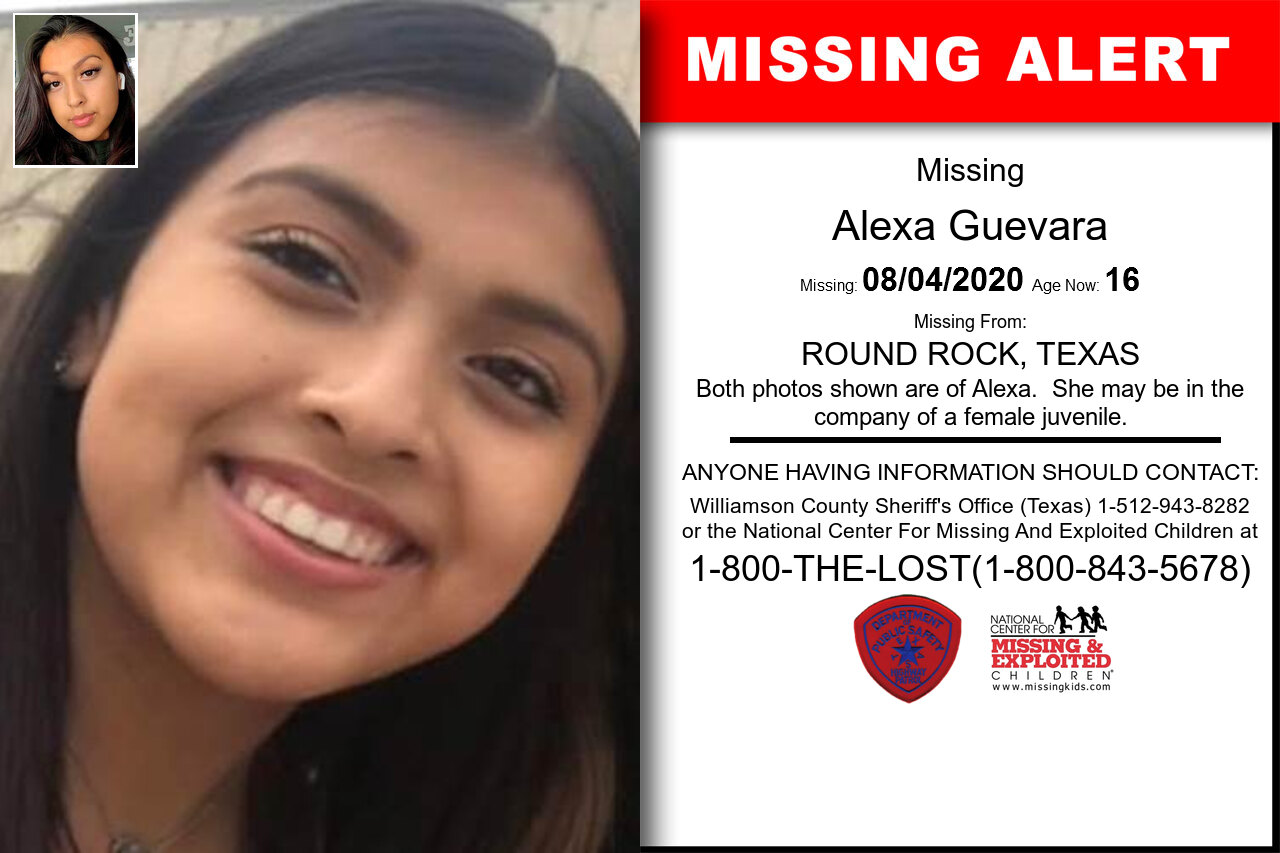Alexa_Guevara missing in Texas