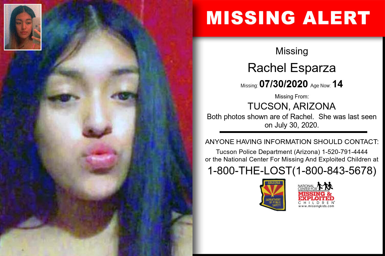 Rachel_Esparza missing in Arizona