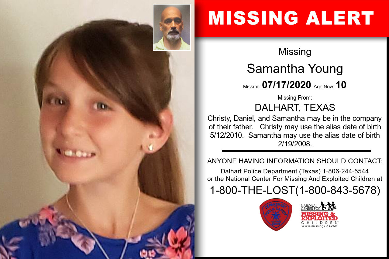 Samantha_Young missing in Texas
