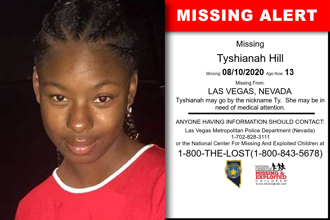 Tyshianah_Hill missing in Nevada