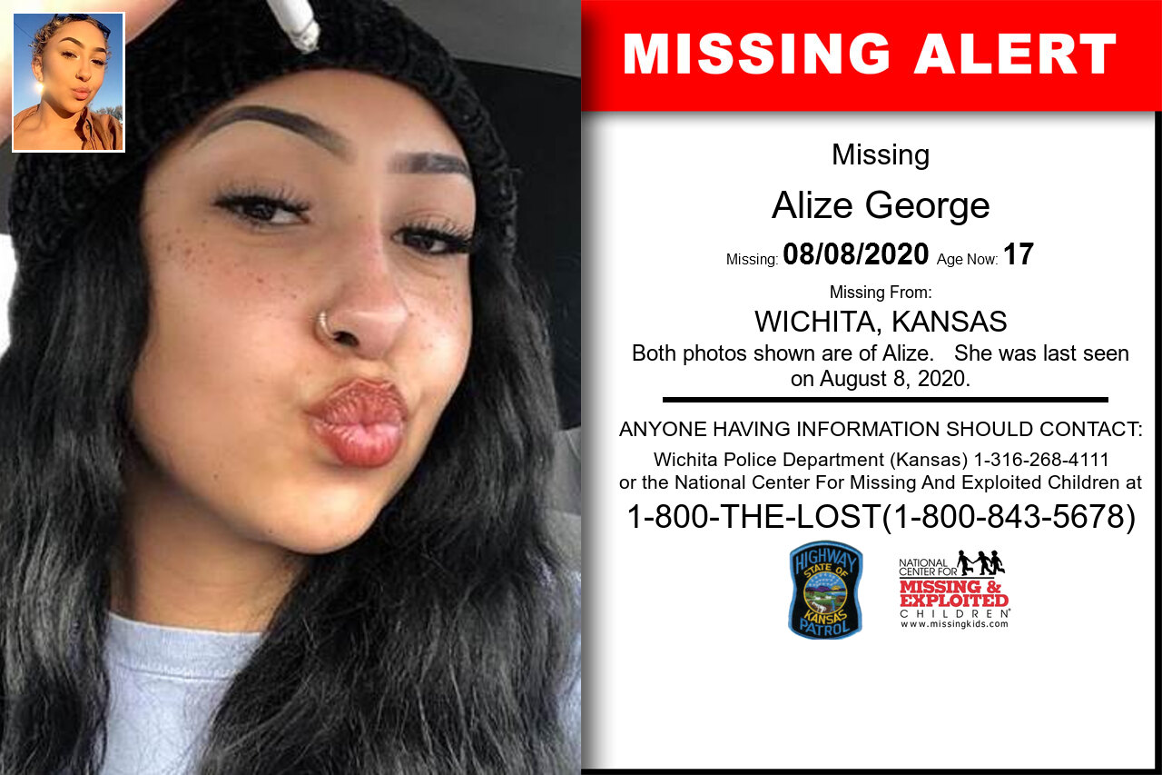 Alize_George missing in Kansas