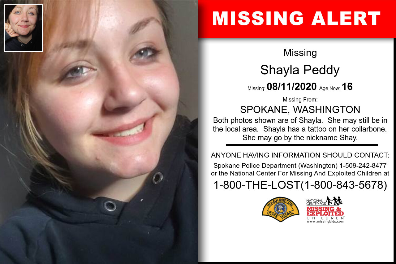 Shayla_Peddy missing in Washington