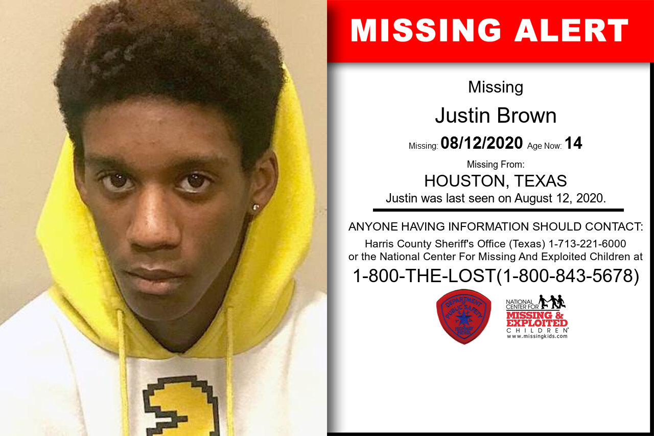 Justin_Brown missing in Texas