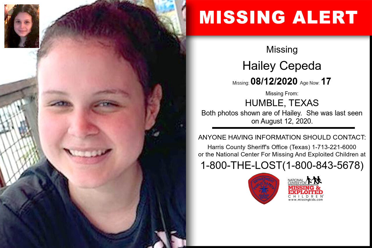 Hailey_Cepeda missing in Texas