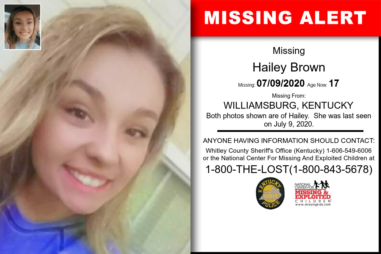 Hailey_Brown missing in Kentucky