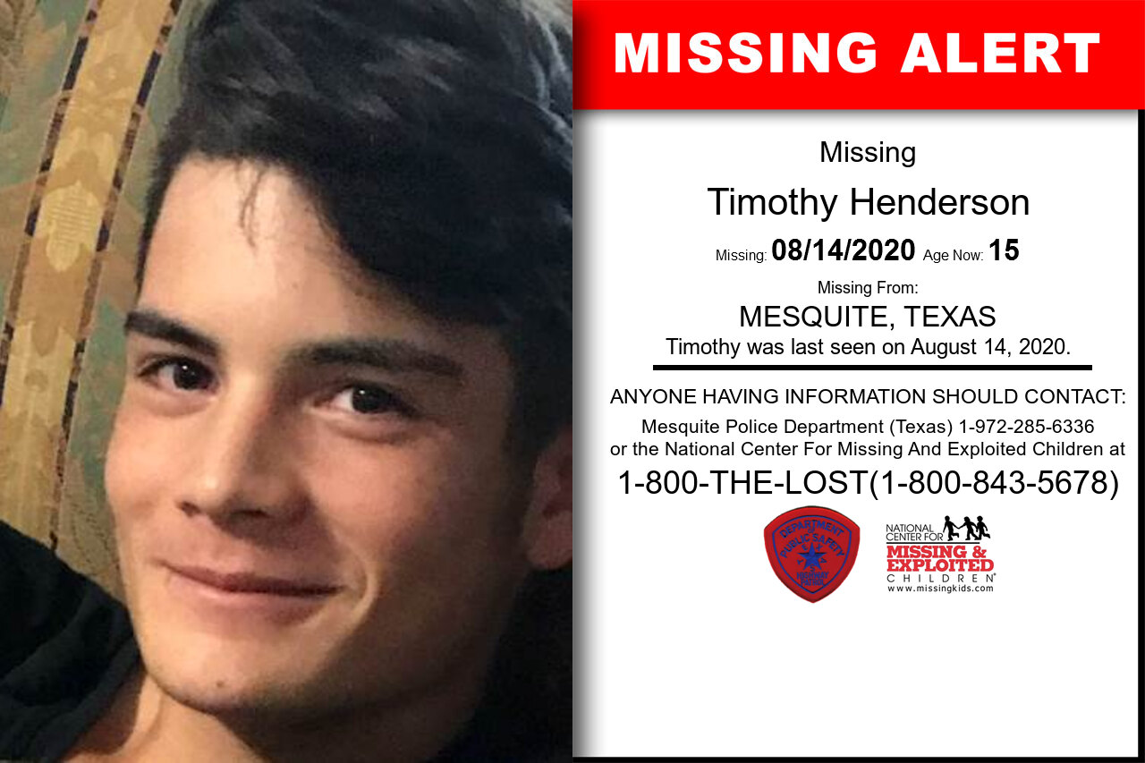 Timothy_Henderson missing in Texas