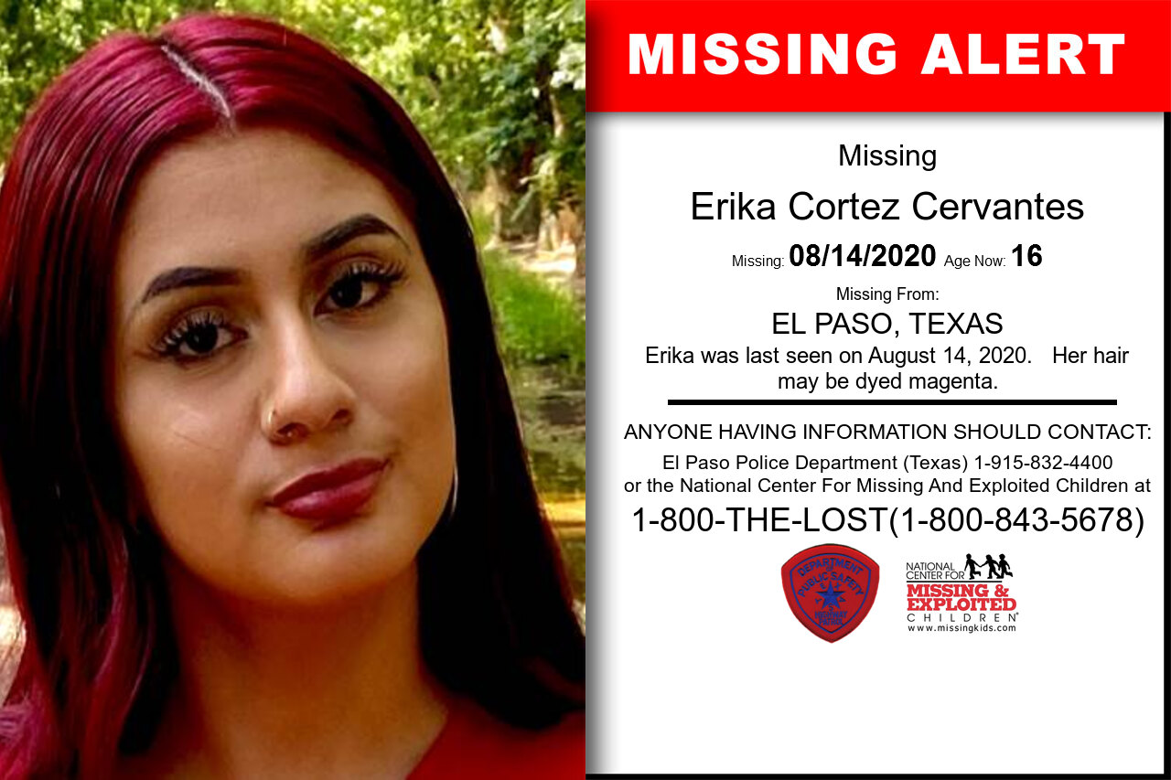 Erika_Cortez_Cervantes missing in Texas