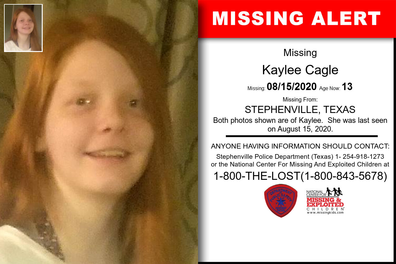 Kaylee_Cagle missing in Texas