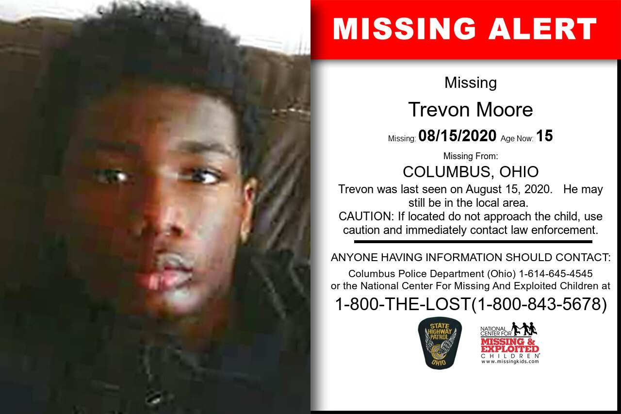 Trevon_Moore missing in Ohio