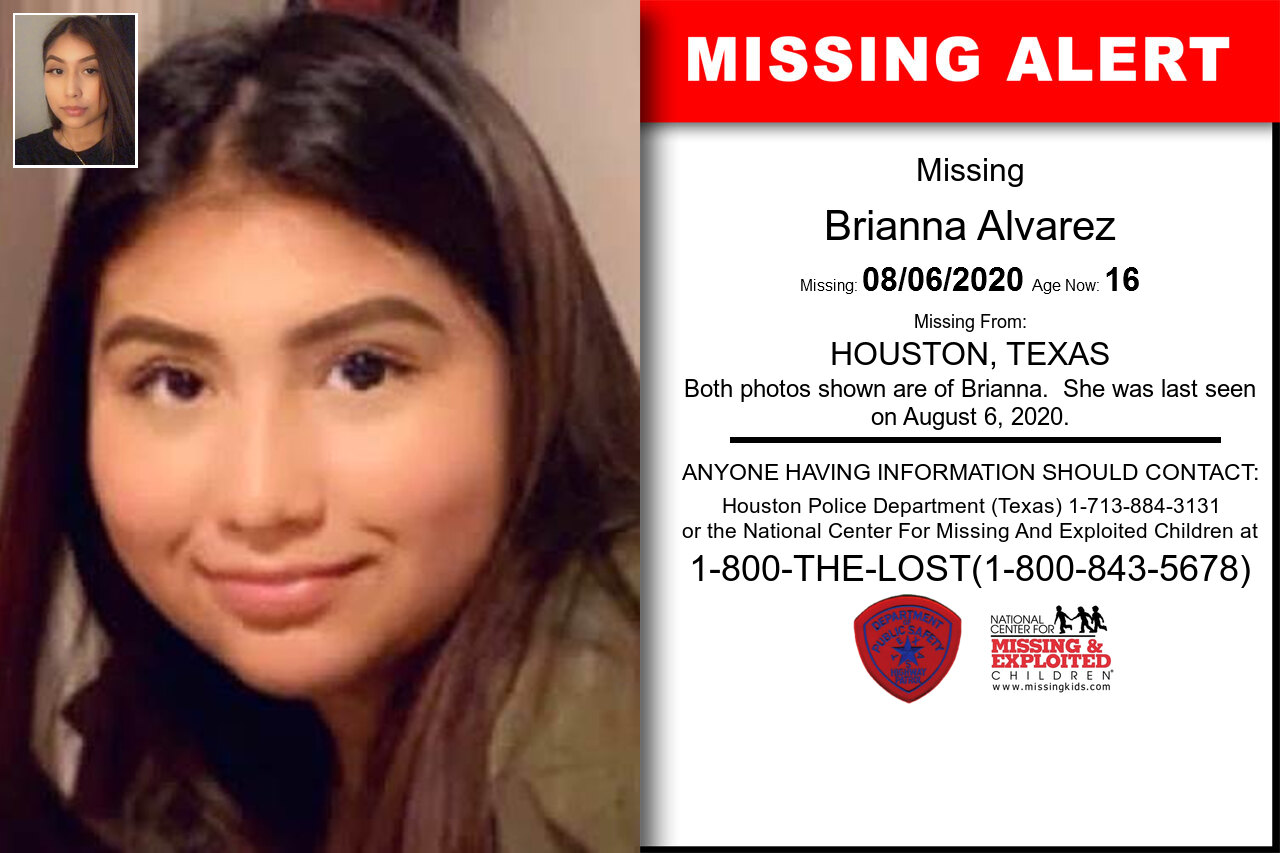 Brianna_Alvarez missing in Texas