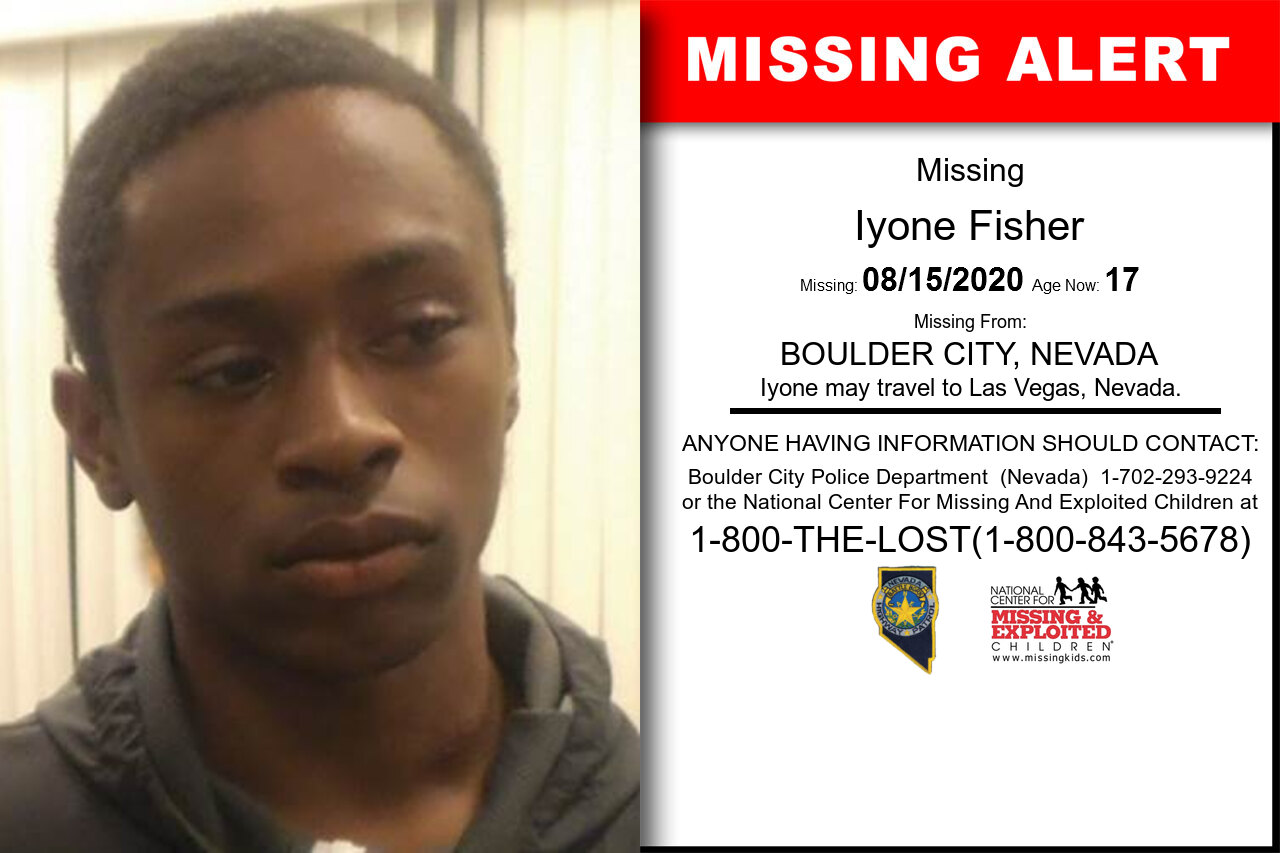Iyone_Fisher missing in Nevada