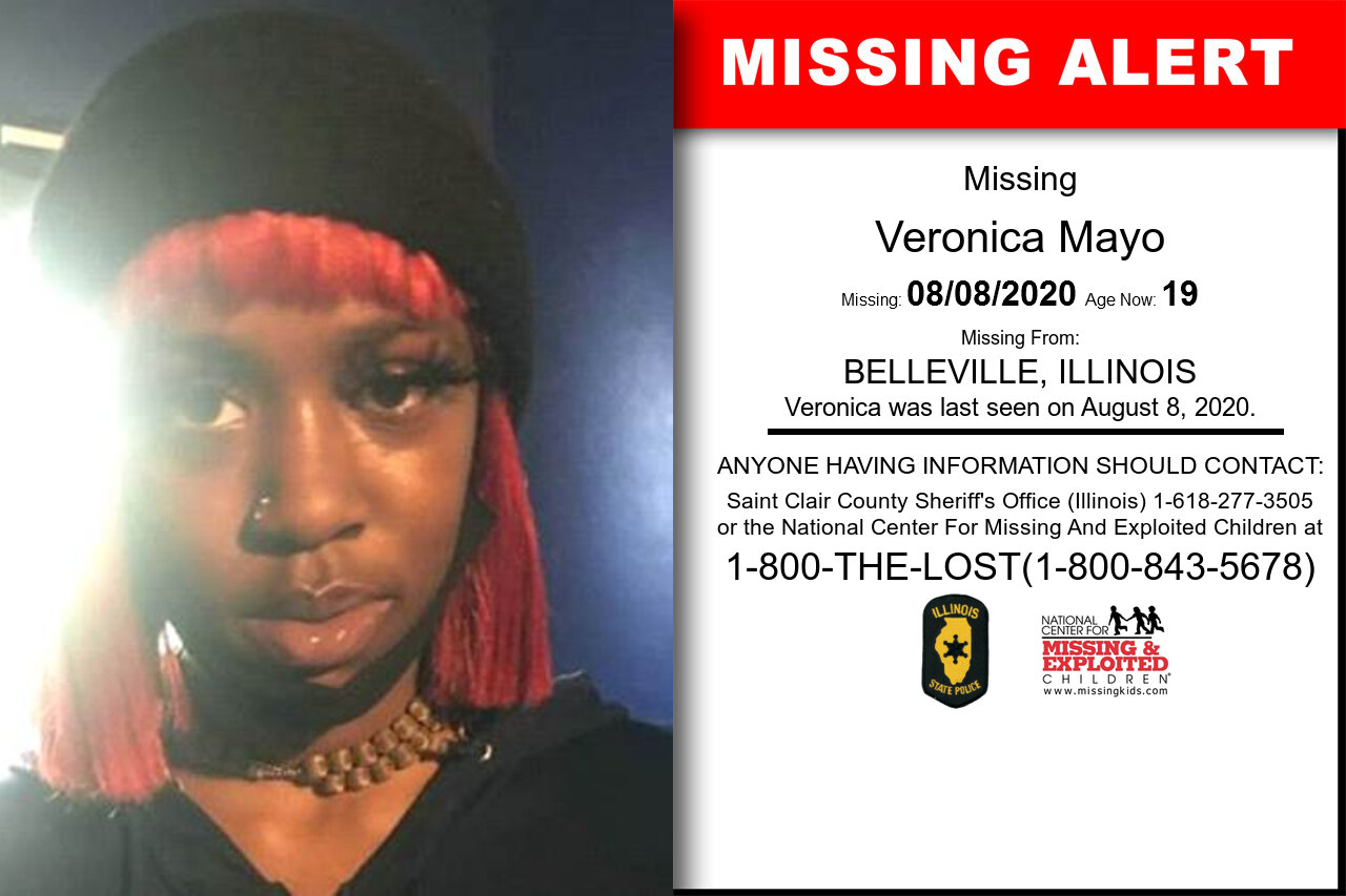 Veronica_Mayo missing in Illinois