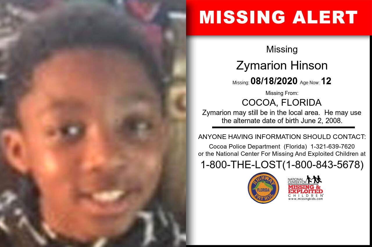 Zymarion_Hinson missing in Florida