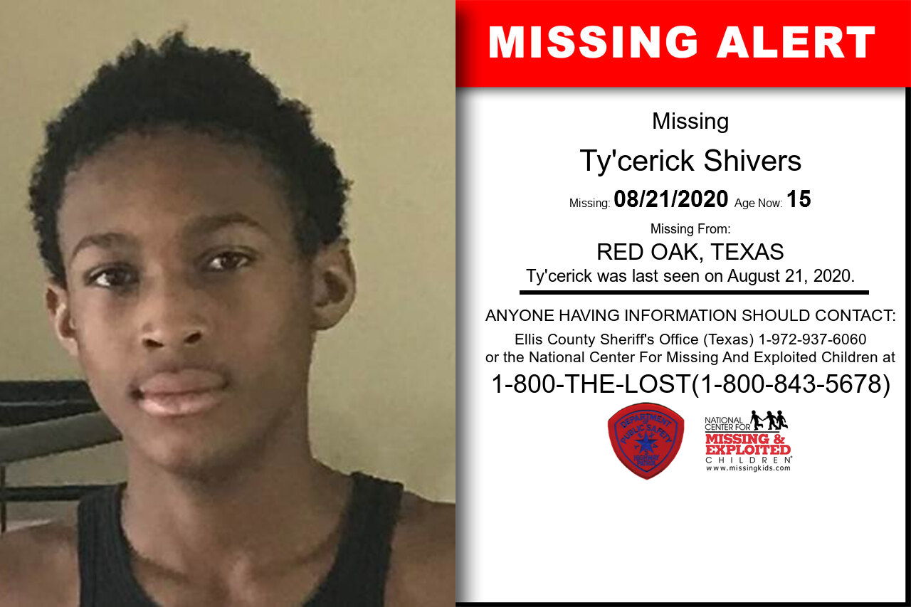 Ty'cerick_Shivers missing in Texas