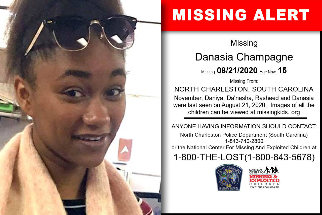 Danasia_Champagne missing in South_Carolina