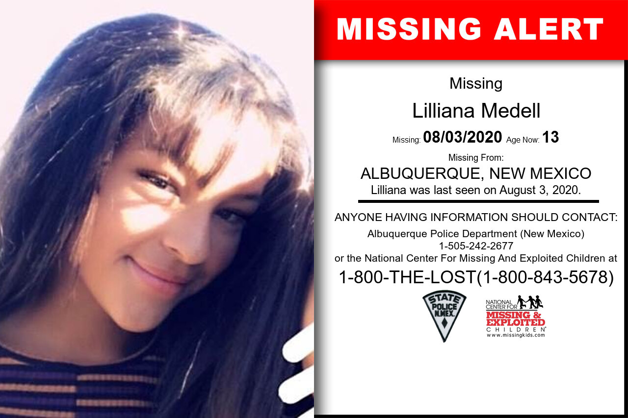 Lilliana_Medell missing in New_Mexico