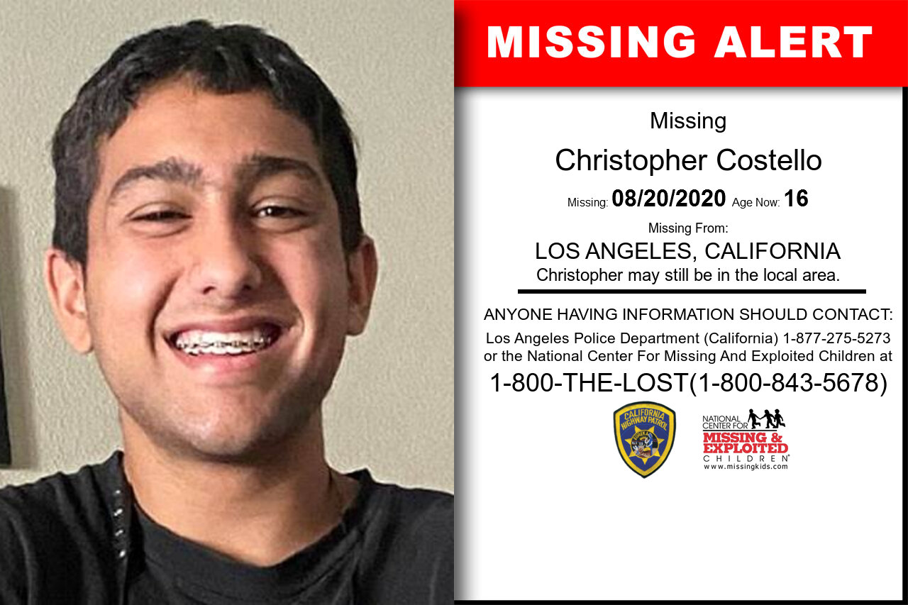 Christopher_Costello missing in California