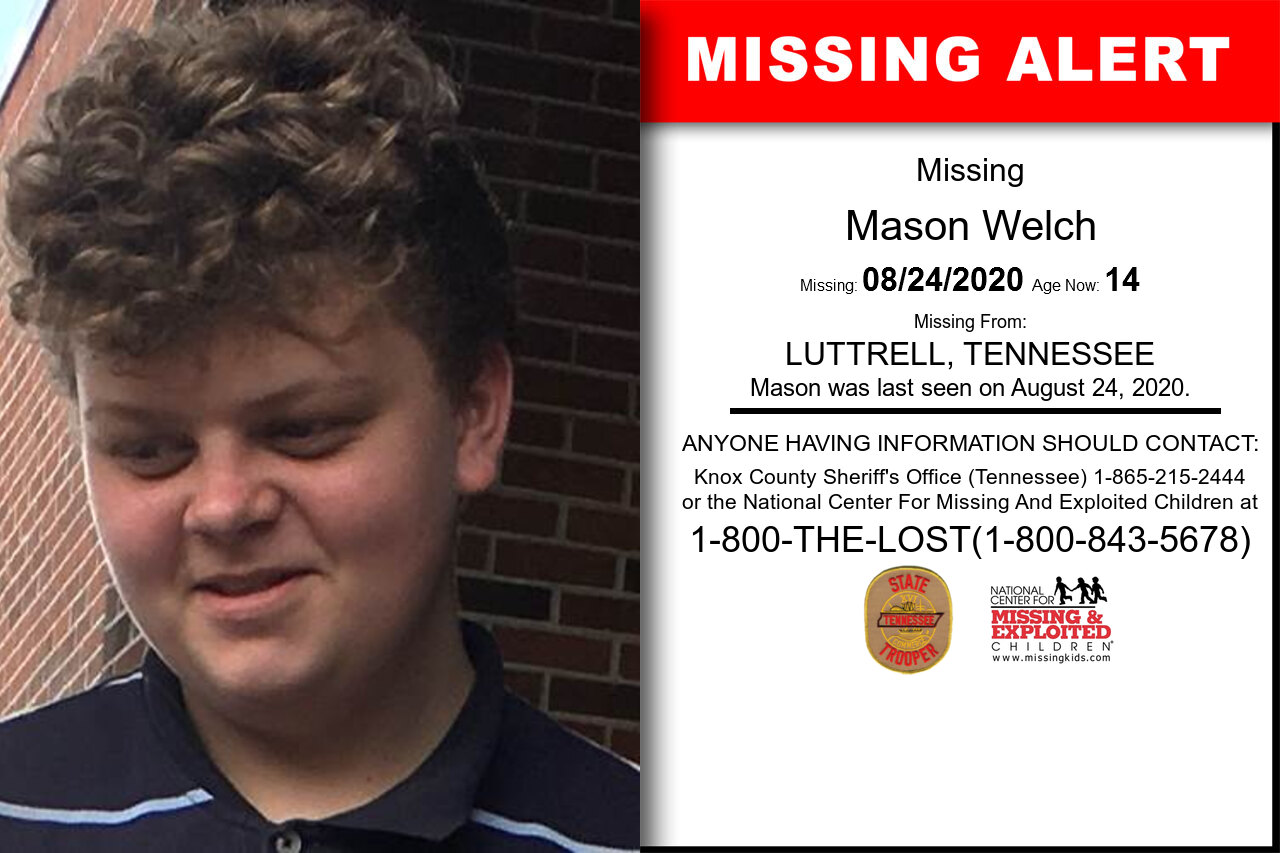 Mason_Welch missing in Tennessee