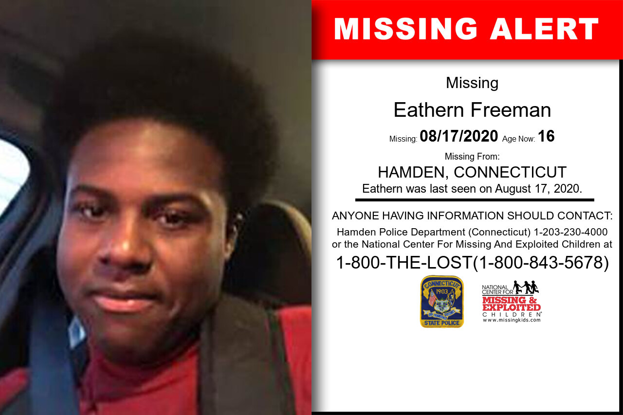 Eathern_Freeman missing in Connecticut