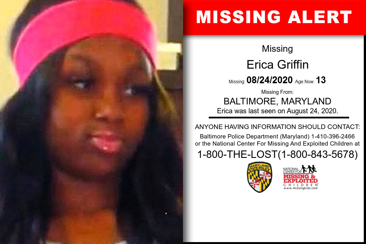 Erica_Griffin missing in Maryland
