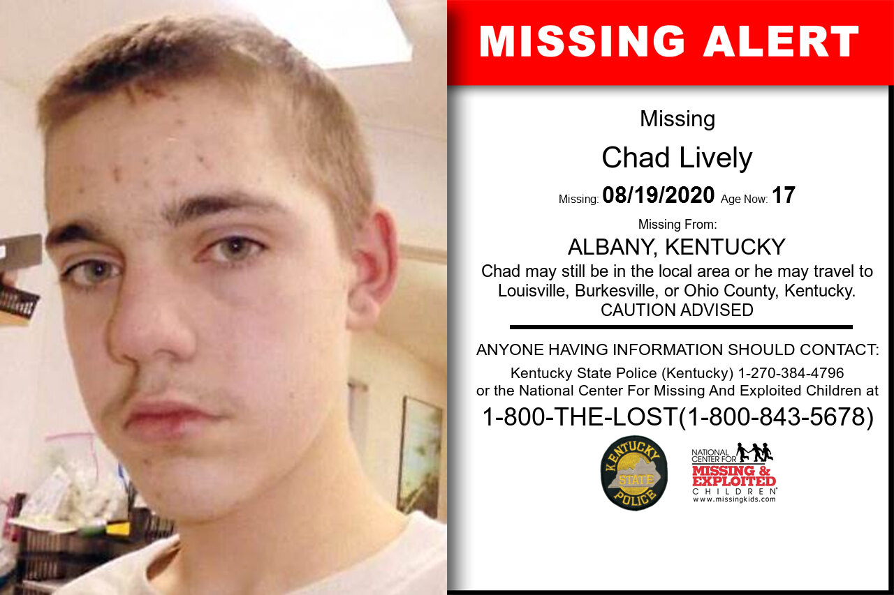 Chad_Lively missing in Kentucky