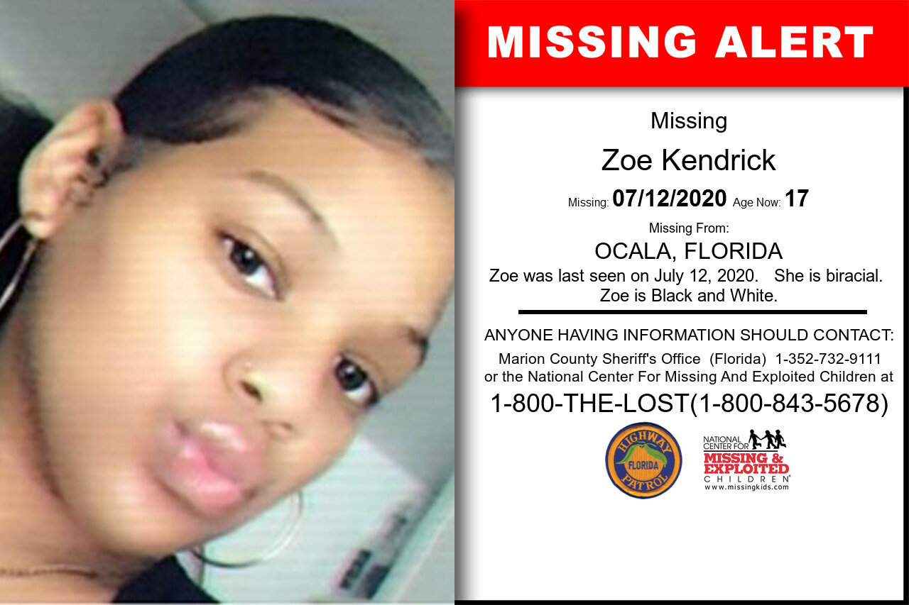 Zoe_Kendrick missing in Florida