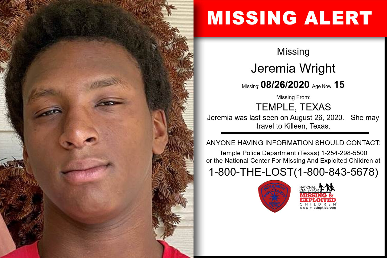 Jeremia_Wright missing in Texas