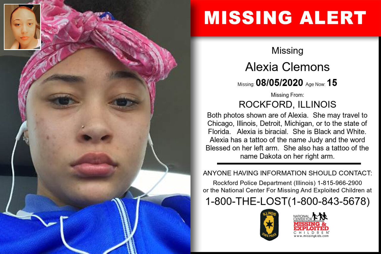 Alexia_Clemons missing in Illinois