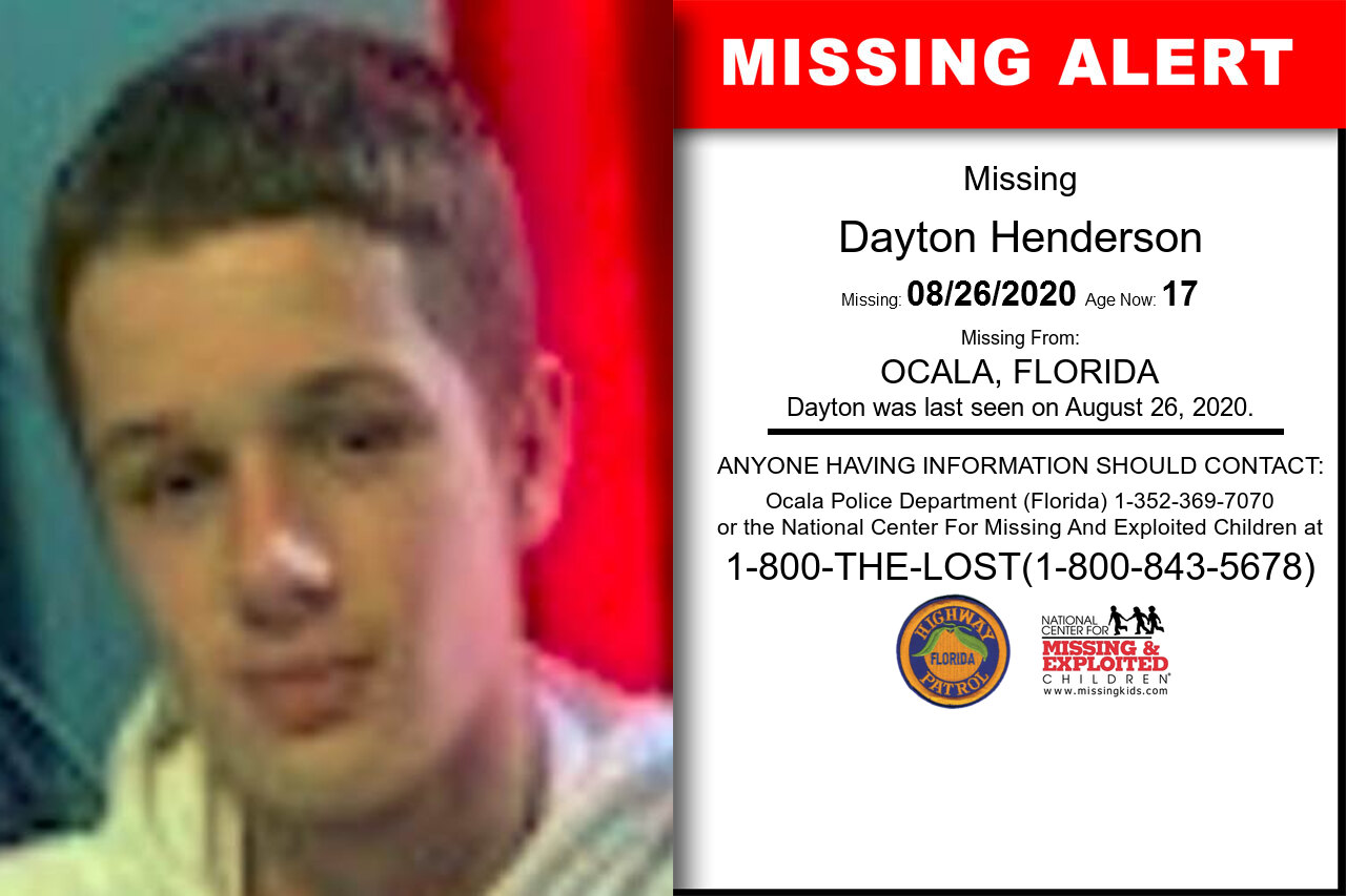 Dayton_Henderson missing in Florida