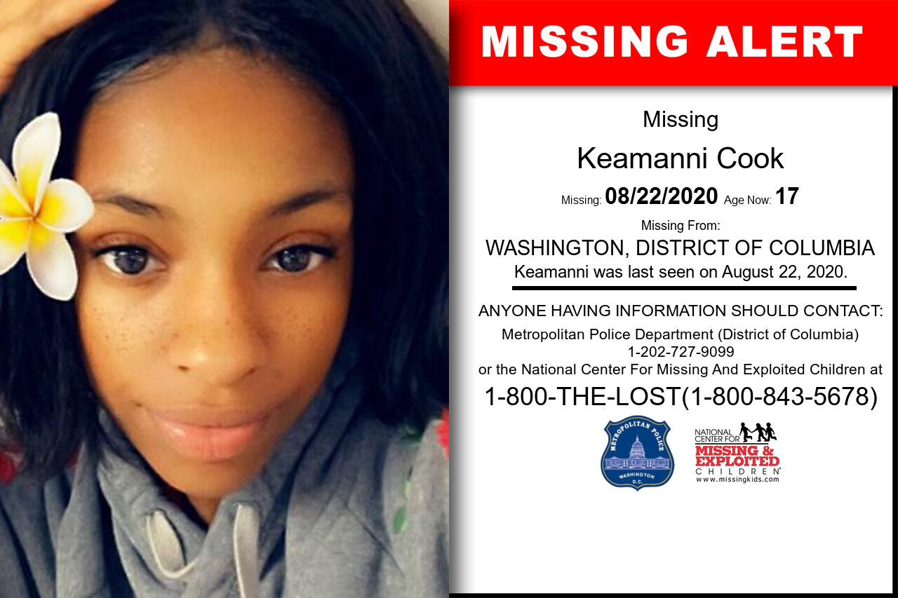 Keamanni_Cook missing in District_of_Columbia