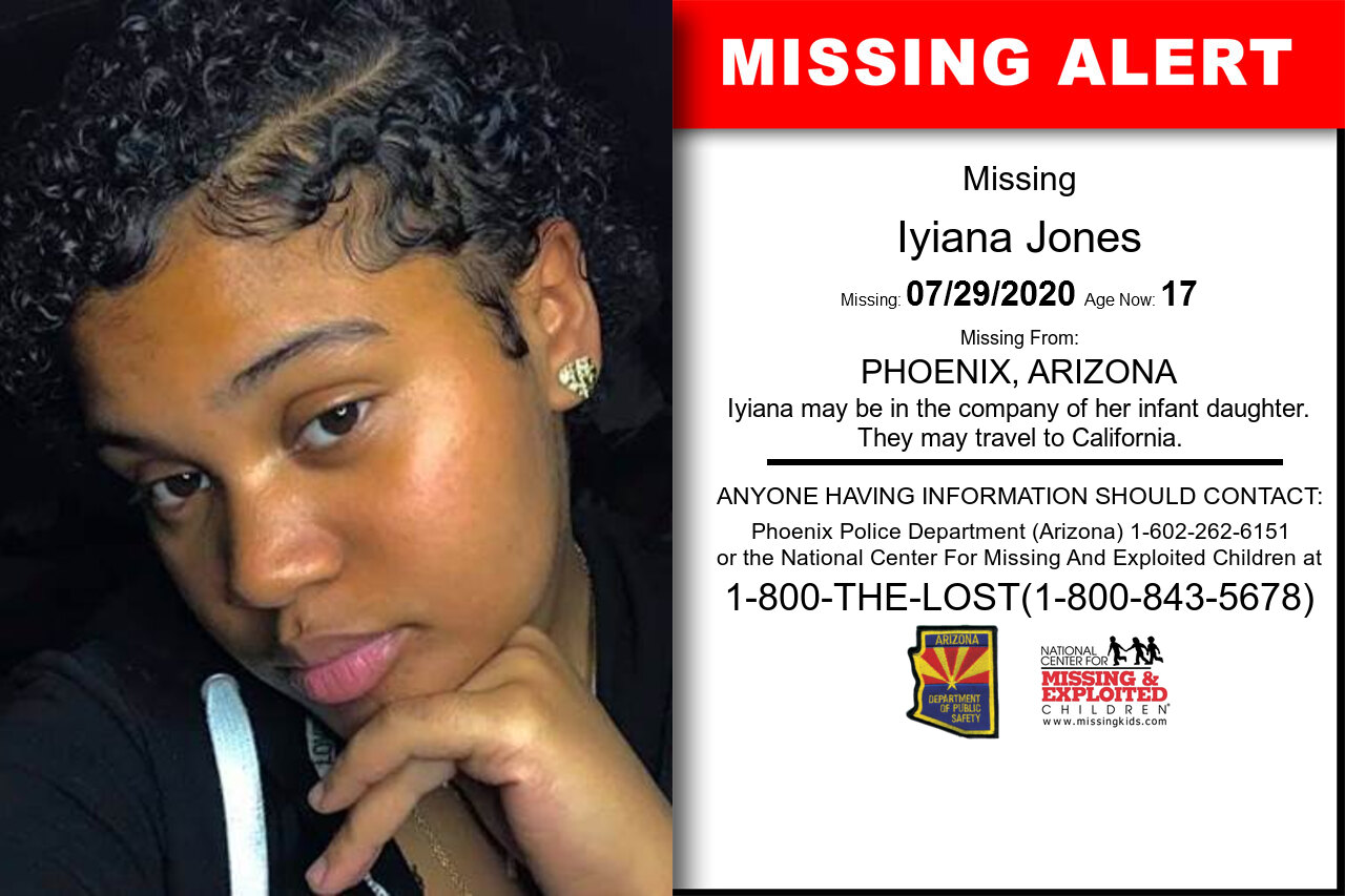 Iyiana_Jones missing in Arizona