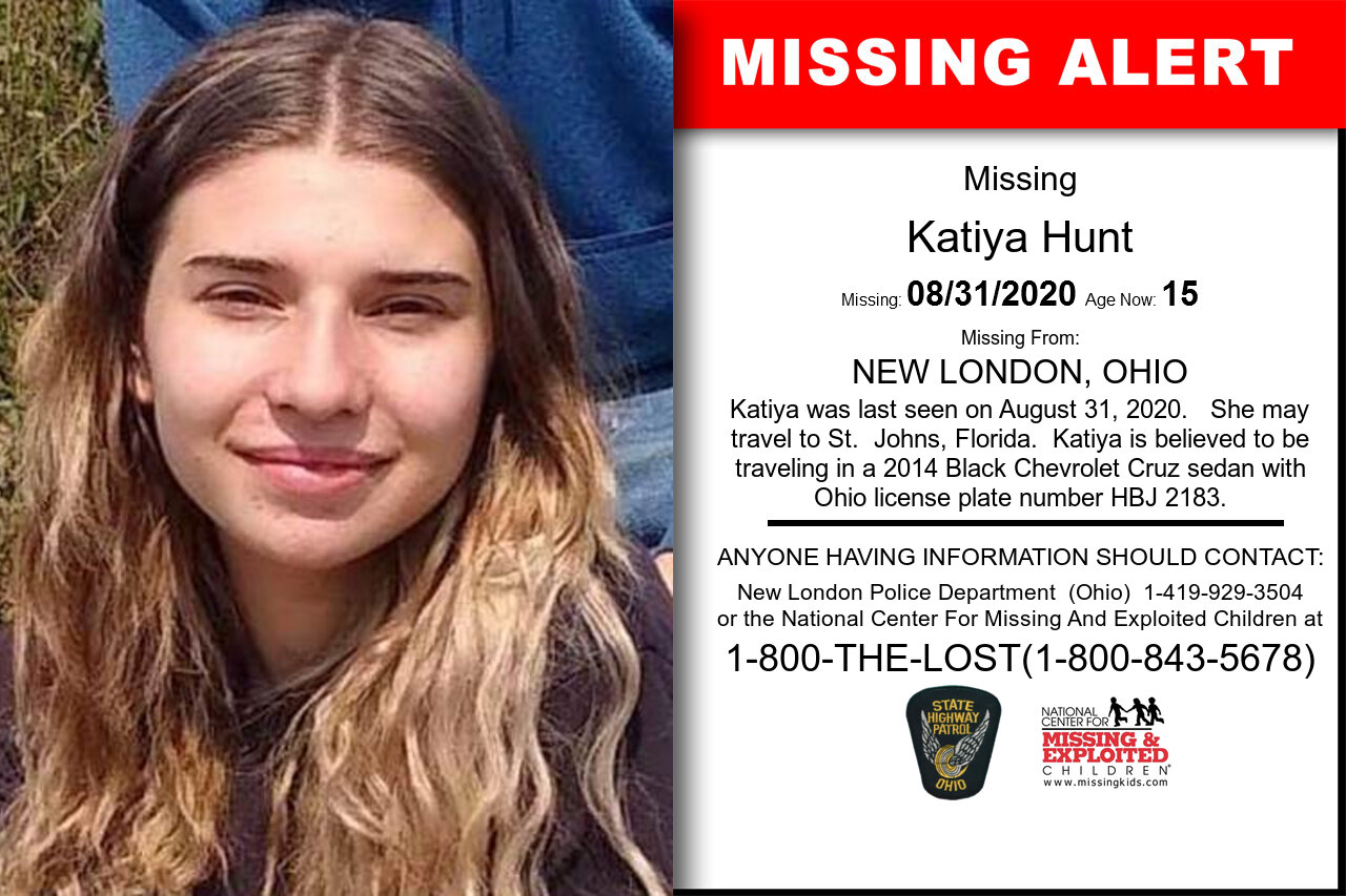 Katiya_Hunt missing in Ohio