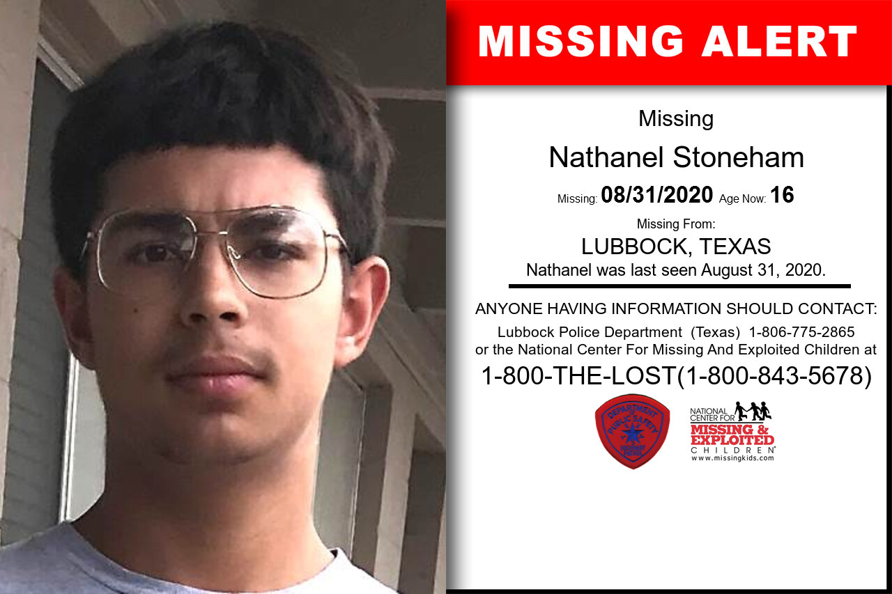 Nathanel_Stoneham missing in Texas