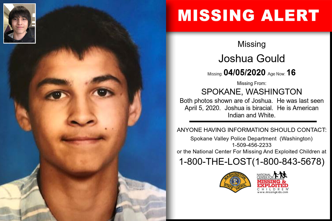 Joshua_Gould missing in Washington
