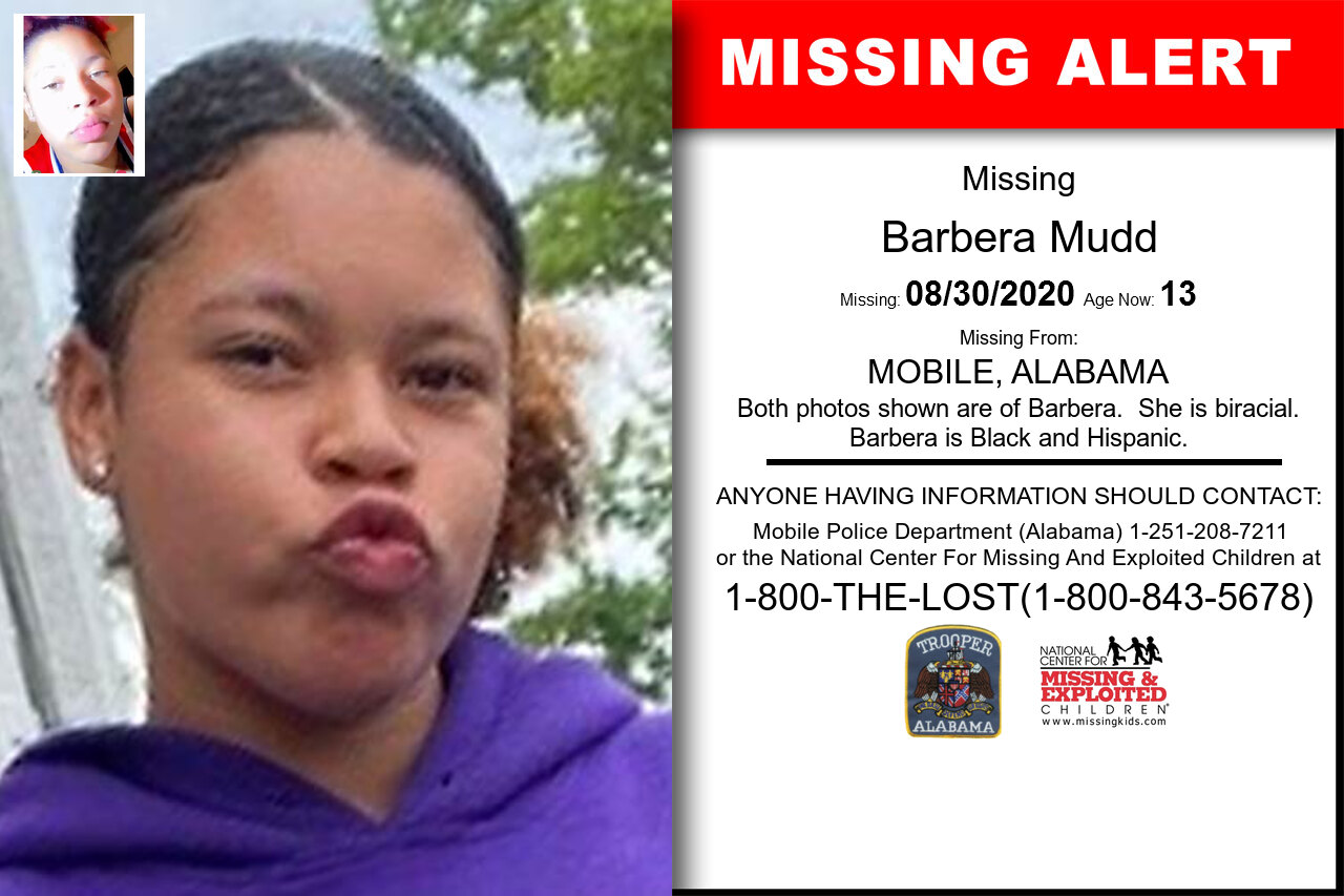 Barbera_Mudd missing in Alabama